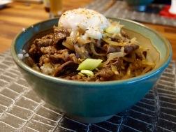 Gyudon with onsen tamago